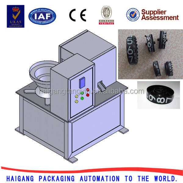 Automatic foil printing machine for plastic numerator wheels