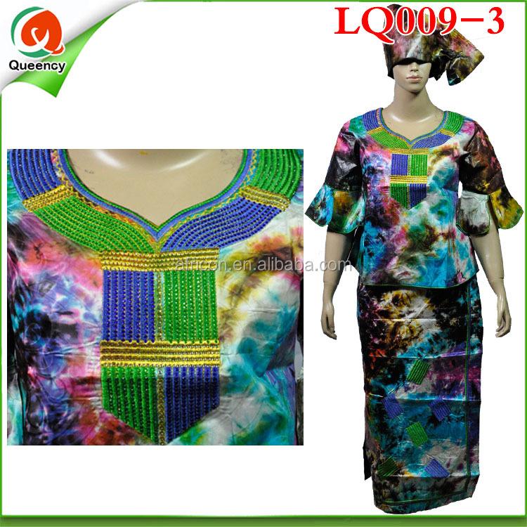Lq009-2 Bazin Riche 100% Cotton African Bazin Embroidery Design Dress - Buy Bazin DressAfrican ...