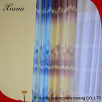 "Colorful Strip Sheer Decorative Door Curtains With Eyelets 60""X90"""
