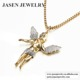 Jasen Jewelry gold plated jewelry wholesale christmas pendant angel