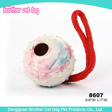 Soft natural ball rubber pet toy