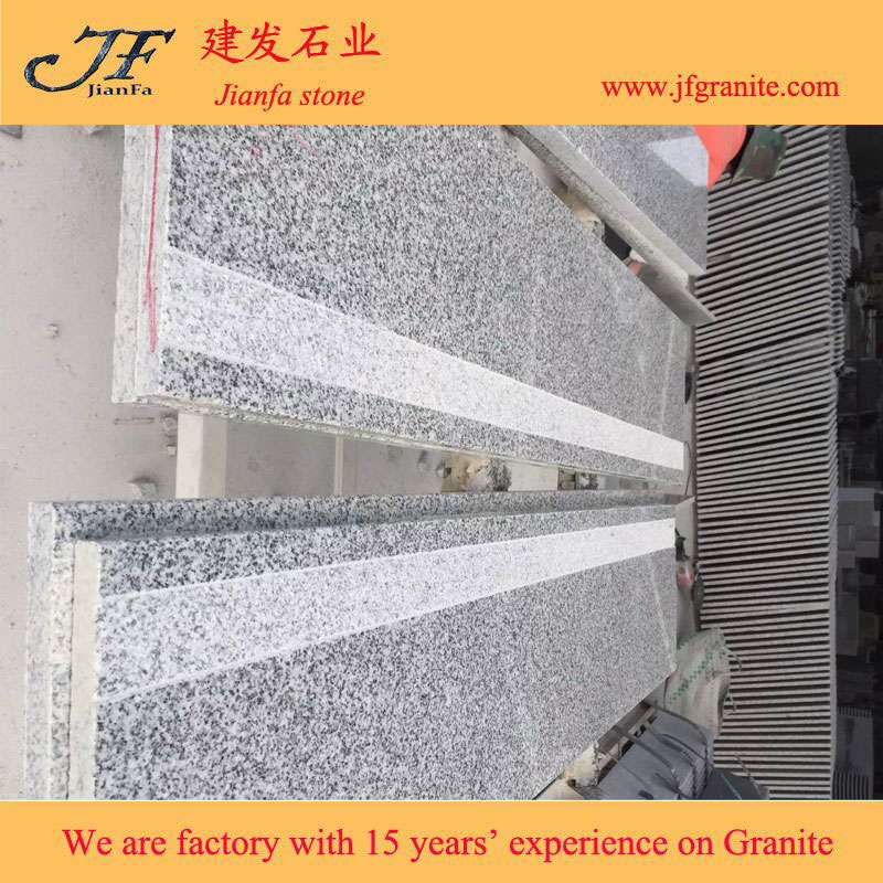 china granite stairs suppliers New G603 stair step covers prefab stair