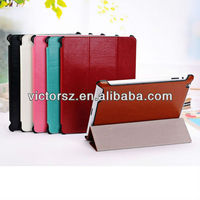 For iPad 4 Case Leather,Crazy Horse Grain Tablet PC Case Case For iPad 4