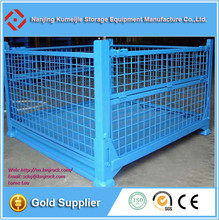 Galvanized Wire Mesh Pallet Cages Stacking Steel Crates