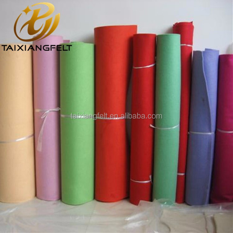 colorful wool felt fabric/ Wool felt 3mm
