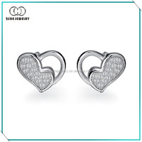 Hot Sale factory supply heart earring jewelry