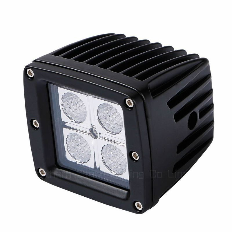 "16W 3"" Led Flood Pods Work Lights Offroad Driving headl Light Waterproof IP67 12V For Pick Up, Trucks, Tractors, ATV Black"