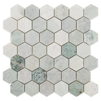 Decorstone24 Ming Green Marble Hexagon Mosaic For Bathroom Backsplash