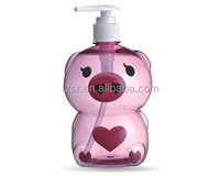 2015 hot 500ml plastic body lotion pump bottle sprayer bottle perfume shampoo
