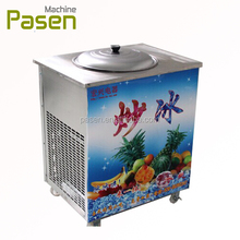 Single square pan roll fry ice cream machine for commericial
