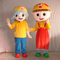 HOLA boy and girl mascot costume/custom mascot costume China