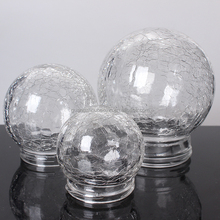 different types blown luxury crackle snowflake christmas bulb globe light glass cover