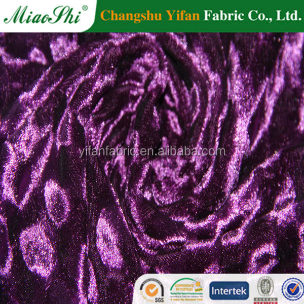 95% Polyester 5% good bright color crush spandex fabric sell hot Knitted Spun Velvet Fabric in Dubai for sex garment ,shoes,pant