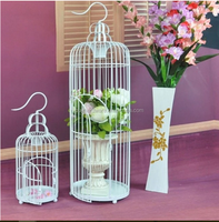 240X450mm wire mesh decorative wooden bird cages wholesale antique PF-E590 ,Cheap garden decorative antique metal bird cage