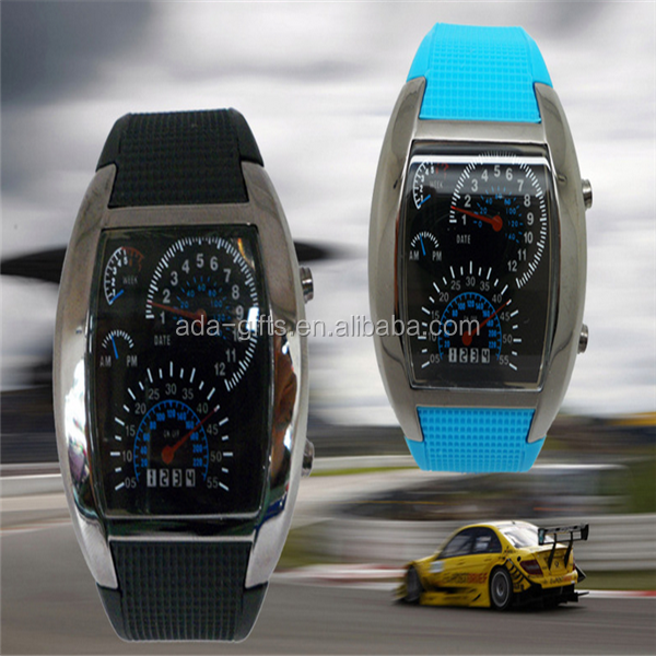 aviation car led watch max aircraft colorful car led watch