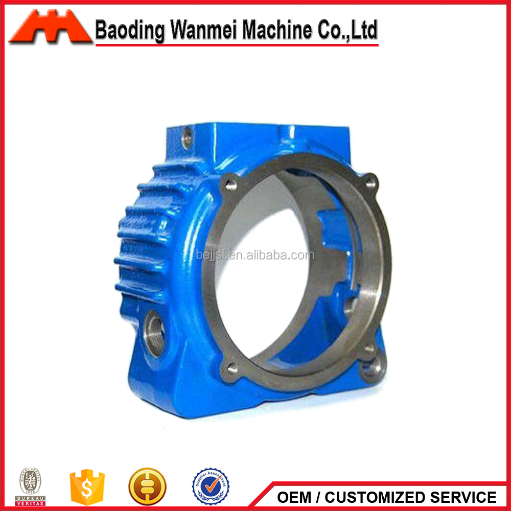 Sand casting nonstandard valve parts metal parts cast iron valve shell with blue painting