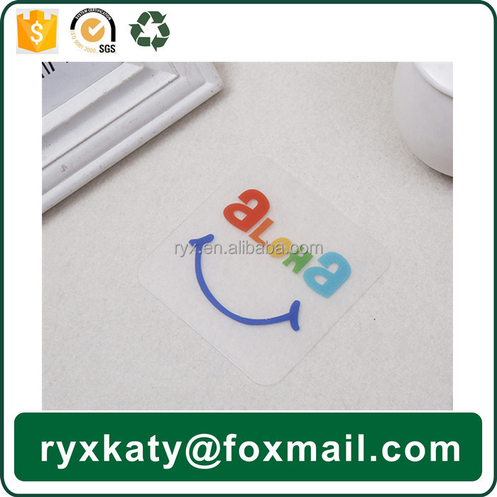 customized clear pp plastic photo drink coaster