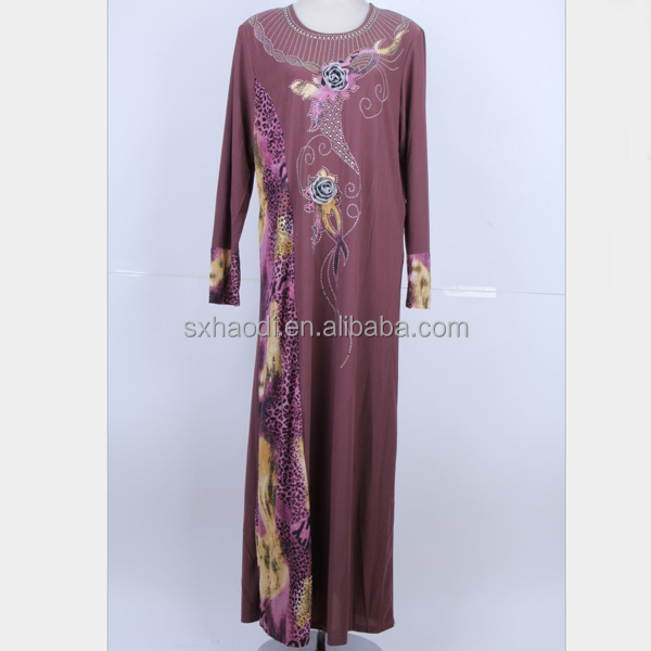 HD-MD42 Stock Islamic plus size muslim women abaya /Arabian thobe
