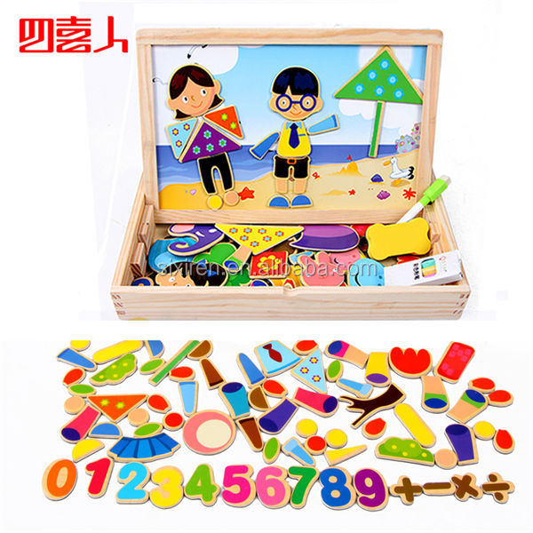 108pcs Character Scene Wooden Magnetic Educational Puzzles