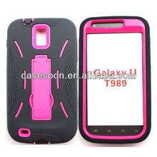 Mobile Phone Hybird Shockproof Case with kickstand For Samsung Galaxy S II SGH-T989