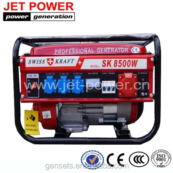 6.5hp gasoline generator air cooled SWISS KRAFT SK8500W Gasoline Generator