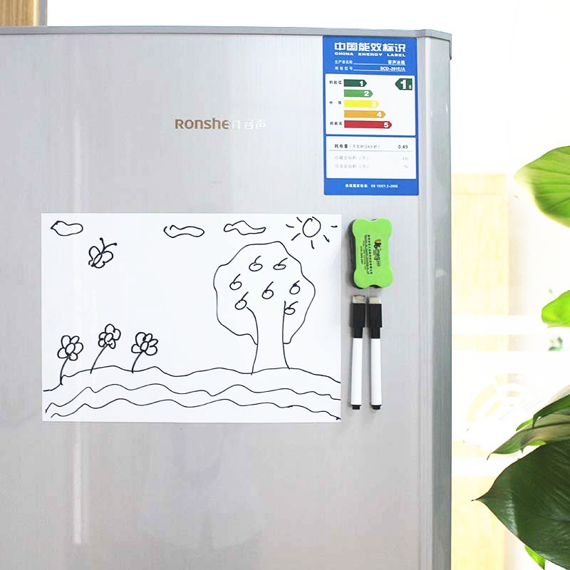 "For kitchen fridge messages 17"" x 11"" Magnetic Whiteboard sheet Dry Erase magnet writing board"