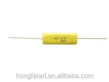 High quality CL20T Metallized polyester film capacitor(Axial-type) CL20T MET