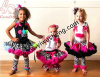 Baby 2 pcs sets zebra lace pettiskirt and cupcake top,birthday girls dresses,flower girl dress