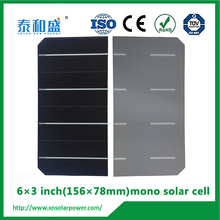 3x6 inch 0.5v 156x78mm poly solar cell cutting with any size mini solar cell