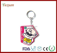 custom wholesale soft pvc keychain
