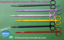 Long Handle Aquarium plant scissors Different Colors Straight And Curved