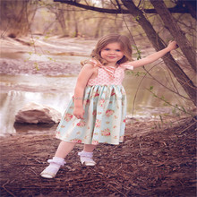 summer new design kids party wear dresses one piece for girls