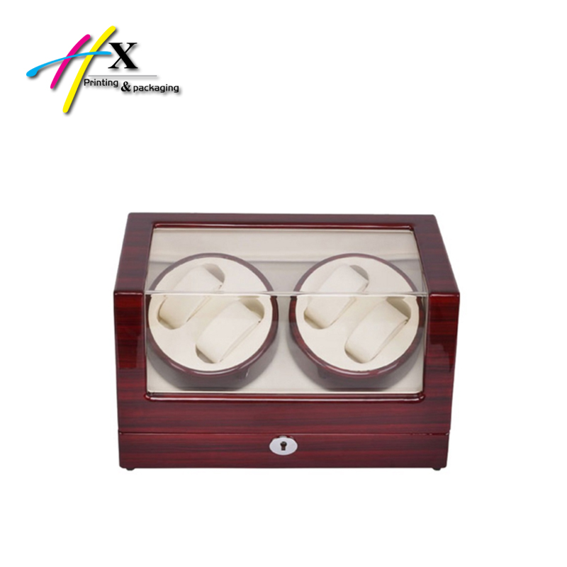 Wooden Automatic Rotation 4+0 Watch Winder Storage Case Display Box