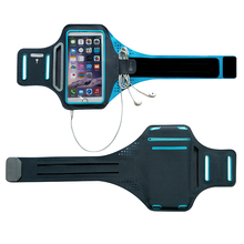 Breathable super thin running sport armband jogging case for iphone 6/6s plus with PVC window