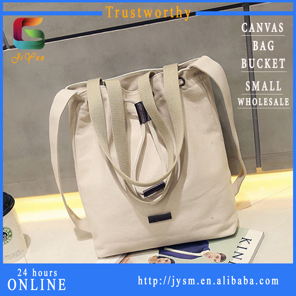New Design Chic Korean Star White Bucket Messenger Totes Wholesale Sturdy Woman Canvas Shoulder Bag