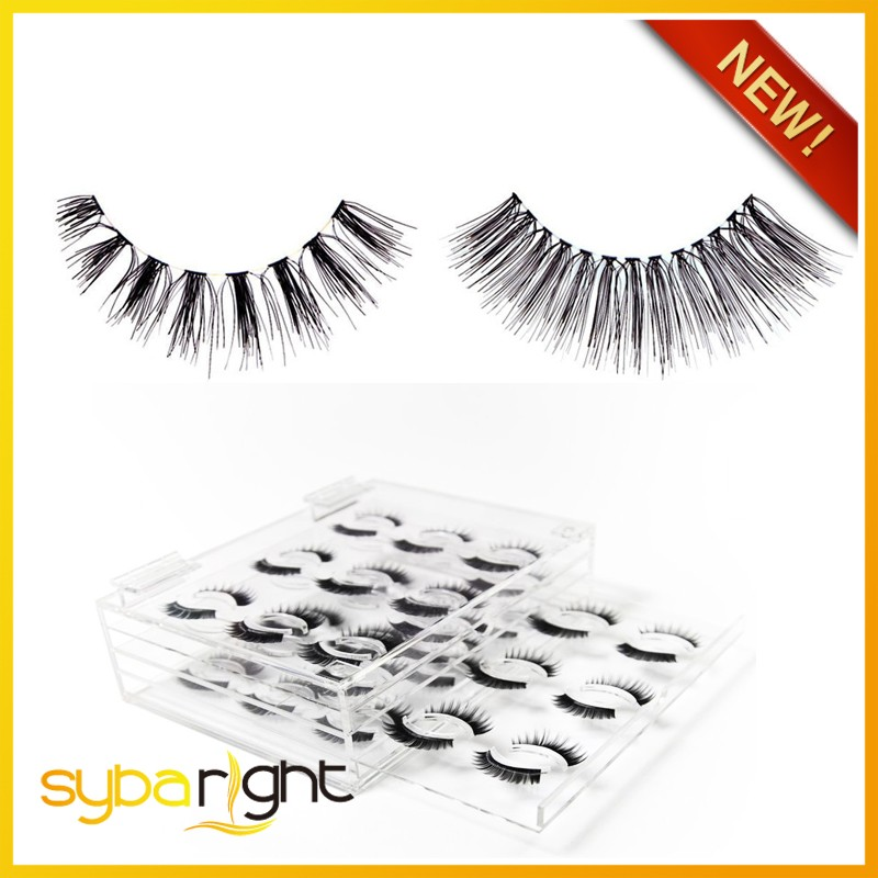 manufacturer supplies bulk red lashes human hair eye lash cherry