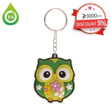 promotion custom plw shape soft rubber key chain