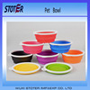 Non-toxic colorful food grade silicone collapsible pet bowl