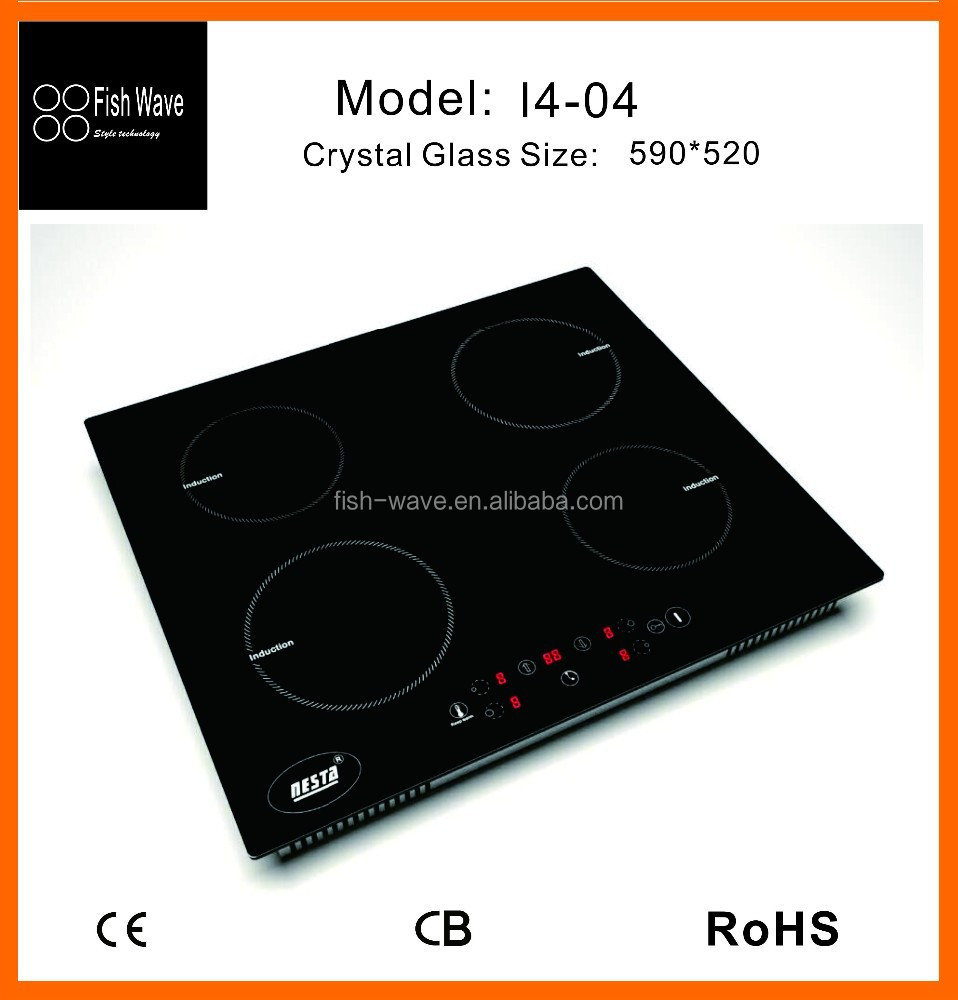 lowest price china supplier metal cover 4 zones low price induction cooker in smart kitchen appliance