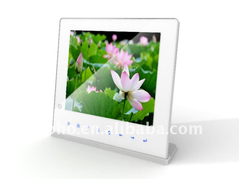 "10.4"" ultra slim electronic picture frame with battery"