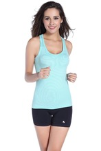 Women <strong>Sports</strong> Striped Tank Tops Sleeveless Vest Dry Quick for Gym Fitness Singlet for Running Shirt Top for Female