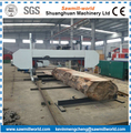 Large Timber Sawing Horizontal Band Saw Mill With Diesel Engine