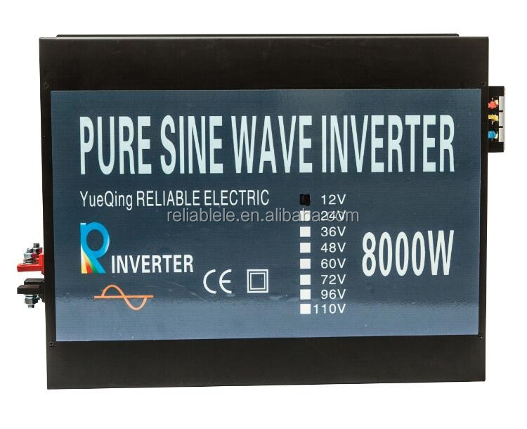 Professional Inverter Manufacturer, 8000W Off Grid Pure Sine Wave Inverter Solar/Car/Appliance Power Inverter with LED Display