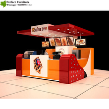 Modern Design Mall 10x12 ft Corn Food Kiosk/ Bubble Tea Kiosk Juice Bar kiosk for Sale