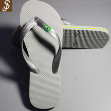 S&J high quality and free sample 5 stars hotel printed pu men summer beach slippers