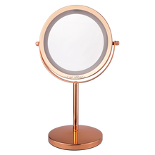 Elegent Golden Battery Operated 1x/5x Magnifying LED Dressing Table Mirror Lights