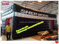 Event CUSTOM pvc tarpulin/waterproof black cube inflatable tent for promotional A74