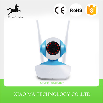 720p ip camera with IR monitor p2p indoor wifi wired/wireless mini ip camera XMR-JK7