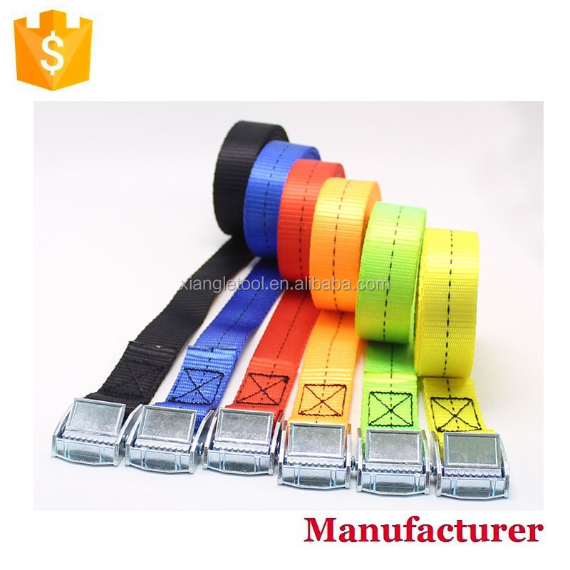 Pack Cam Tie Down Straps Cargo Lash Luggage Nylon Bag Belt Metal Buckle 2500MM