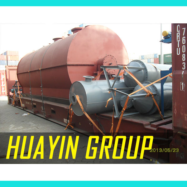 Plastic engine oil pyrolysis equipment with oil bunner